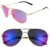 Oakley Women's 'Caveat' 60Mm Aviator Sunglasses - Polished Gold/ Red Iridium