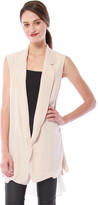 Cynthia Vincent Oversized Chiffon-Back Vest