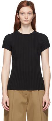 Studio Nicholson Black Silk Petani T-Shirt