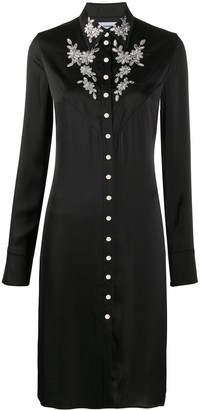 Paco Rabanne Lace Embroidered Shirt Dress