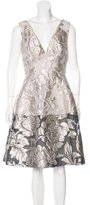 Lela Rose V-Neck Jacquard Dress w/ Tags