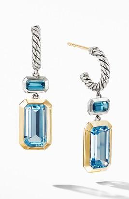 David Yurman Novella Drop Earrings with 18K Yellow Gold