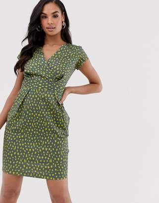Closet London Closet pencil dress with capped sleeves-Green