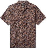 Beams Camp-Collar Printed Cotton Shirt