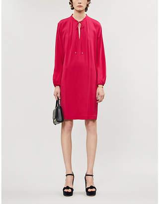 Diane von Furstenberg Jessica tied-neck stretch-silk mini dress