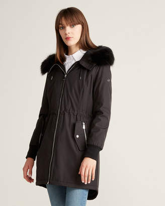 Calvin Klein Faux Fur-Trimmed Hooded Anorak