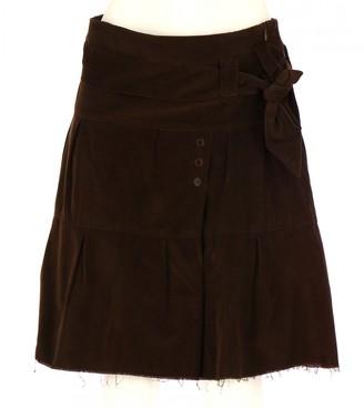 Comptoir des Cotonniers Brown Velvet Skirt for Women
