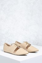 Forever 21 FOREVER 21+ Clear Cutout Faux Leather Oxfords