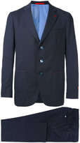 Isaia embroidered two piece suit - men - Cupro/Wool - 48