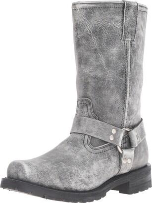 "Ride Tec Men's 1442SBK 13"" Stonewash Harness Black Work Boot 8.5 M US"