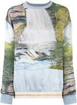 Stella McCartney landscape print sweatshirt - women - Cotton/Polyamide/Polyester/Latex - 36