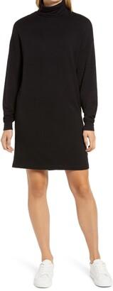Lou & Grey Signature Soft Long Sleeve Turtleneck Dress