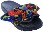 Red & Blue Floral Nomi Slide Sandal