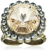 Sorrelli Women's Washed Waterfront Halo Crystal Ring