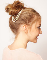 Asos Pearl & Chain Hanging Hair Slide