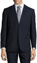Neiman Marcus Solid Slim-Fit Two-Piece Suit, Navy
