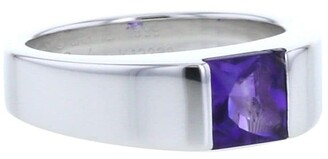 Cartier 2000s pre-owned white gold small Tank amethyst ring