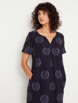 White Stuff Ondine Jacquard Spot Dress