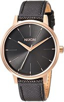 Nixon Women's 'Kensington' Quartz Metal and Leather Automatic Watch, Color:Black (Model: A1081098-00)