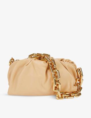 Bottega Veneta The Chain Pouch medium leather clutch bag