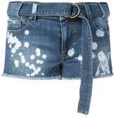 RED Valentino paint splatter denim shorts