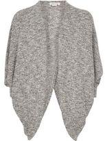 River Island Girls grey marl draped cardigan