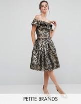 Chi Chi Petite Chi Chi London Petite Full Midi Jacquard Prom Skirt