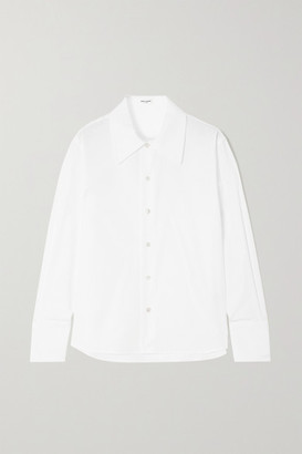 Saint Laurent Cotton-poplin Shirt - White