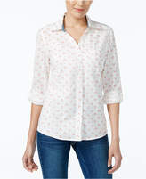 Style&Co. Style & Co Petite Cotton Printed Shirt, Only at Macy's