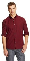 Mossimo Men's Slim Fit Button Down Shirt Red