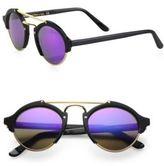 Illesteva Milan II 54MM Round Aviator Mirrored Sunglasses