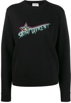 Saint Laurent Vintage-Inspired Logo Sweatshirt