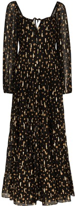 Rixo Cameron star print maxi dress