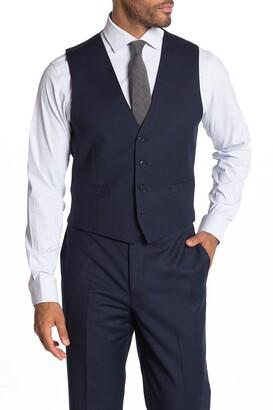 Calvin Klein Bidseye Slim Fit Suit Separate Vest