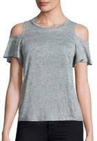 Rebecca Taylor Cold Shoulder Linen Jersey Tee