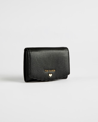 Ted Baker SABELAA Leather scallop detail mini purse