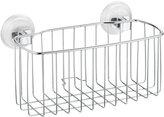 InterDesign Reo Power Lock Suction Bathroom Shower Caddy Basket for Shampoo, Conditioner, Soap