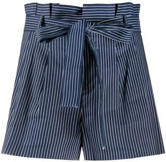 Alice + Olivia Linen Pinstripe Shorts