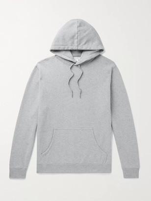 Sunspel Melange Loopback Cotton-Jersey Hoodie