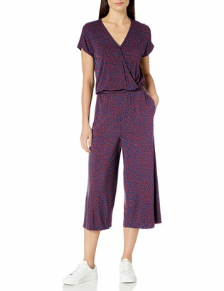 Amazon Essentials Short-Sleeve Surplice Cropped Jumpsuit