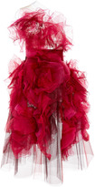 Marchesa Textured Silk Cocktail Dress