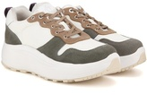 Eytys Jet Combo Suede-trimmed Sneakers