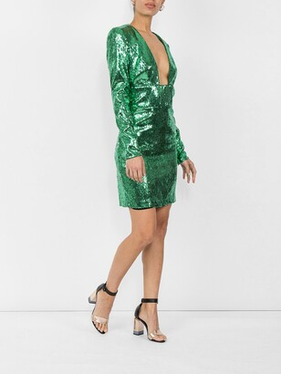Dundas sequin mini dress