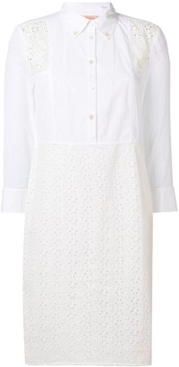 Tory Burch Embroidered Shirt Dress
