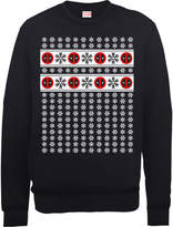 Marvel Deadpool Christmas Snowflakes Black Christmas Sweatshirt