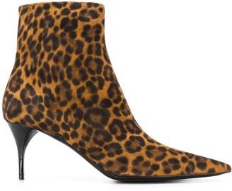 Saint Laurent Lexi leopard boots