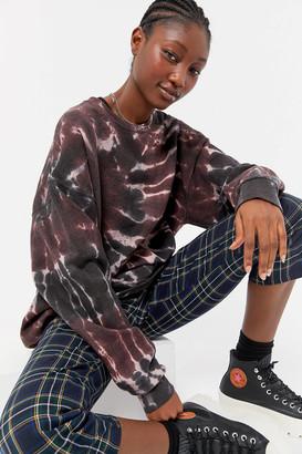 Urban Renewal Vintage Recycled Burst Tie-Dye Crew Neck Sweatshirt