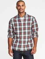 Old Navy Regular-Fit Tartan Classic Shirt for Men