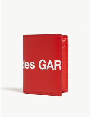 Comme des Garcons Logo print leather wallet