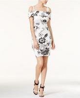 GUESS Elyza Off-The-Shoulder Floral-Print Dress